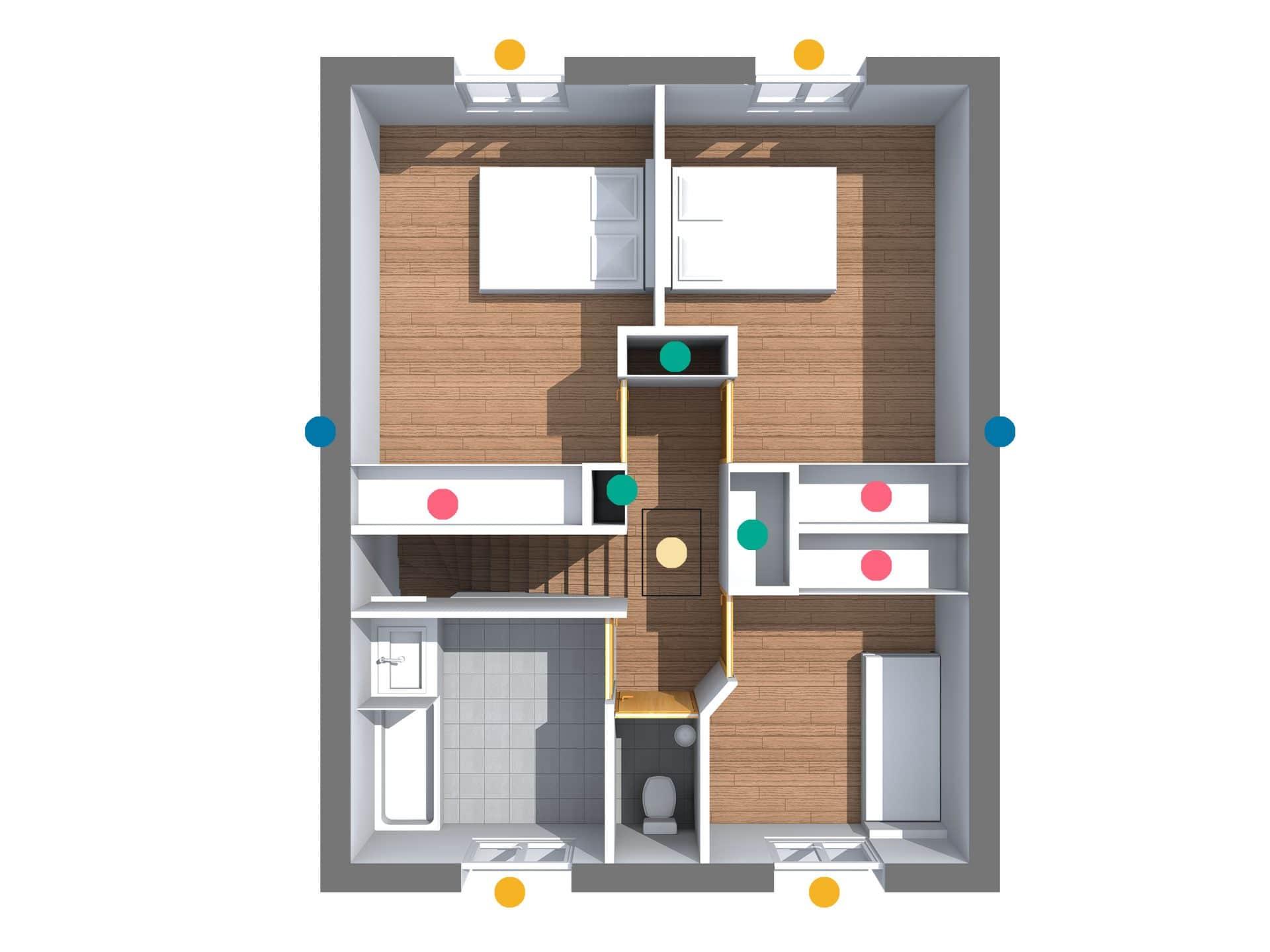 plan d 39 une maison contemporaine rennes cocoon habitat. Black Bedroom Furniture Sets. Home Design Ideas