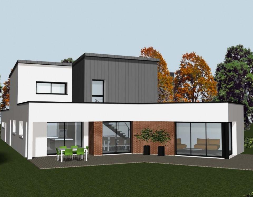 une maison contemporaine et panneaux solaires cocoon. Black Bedroom Furniture Sets. Home Design Ideas