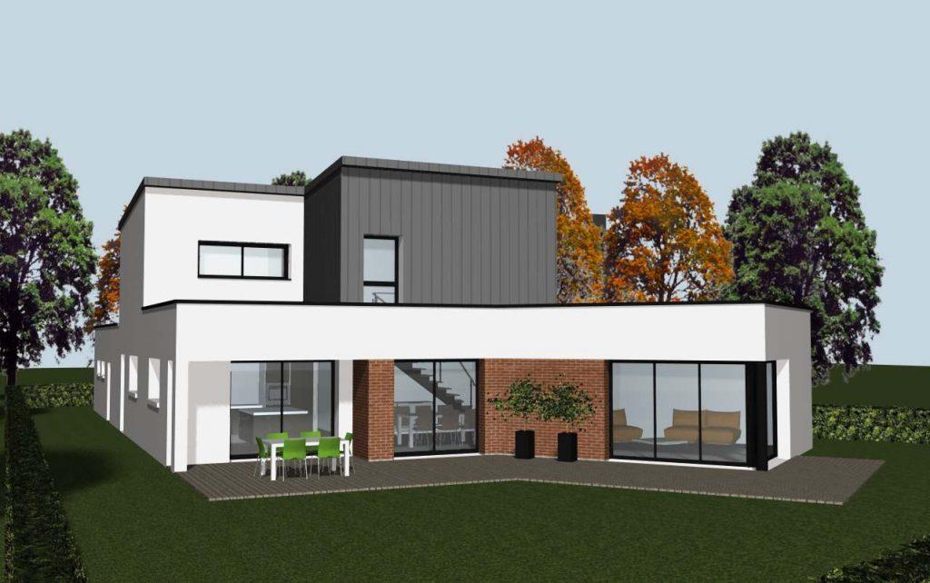 baie vitr e d 39 une maison contemporaine cocoon habitatcocoon habitat. Black Bedroom Furniture Sets. Home Design Ideas