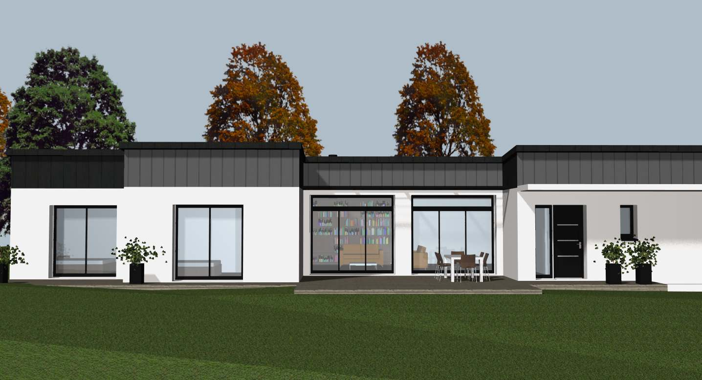 Votre constructeur de maison contemporaine sur rennes for Constructeur de maison 70