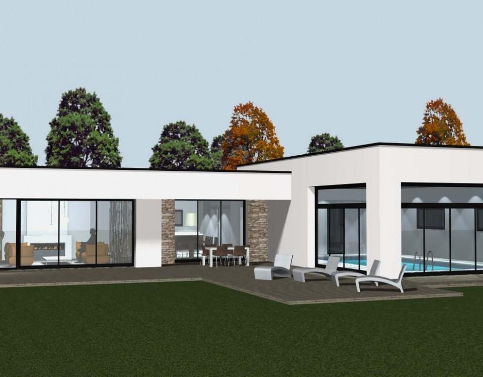 Maison contemporaine archives cocoon habitat for Salon de l immobilier rennes
