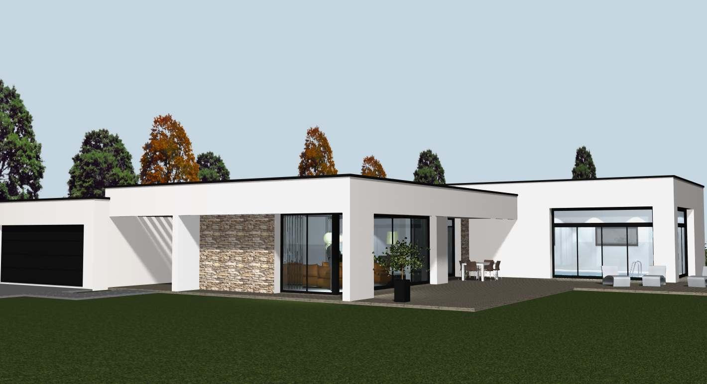 Construire une maison contemporaine et toiture cocoon habitat - Synonyme de construire ...