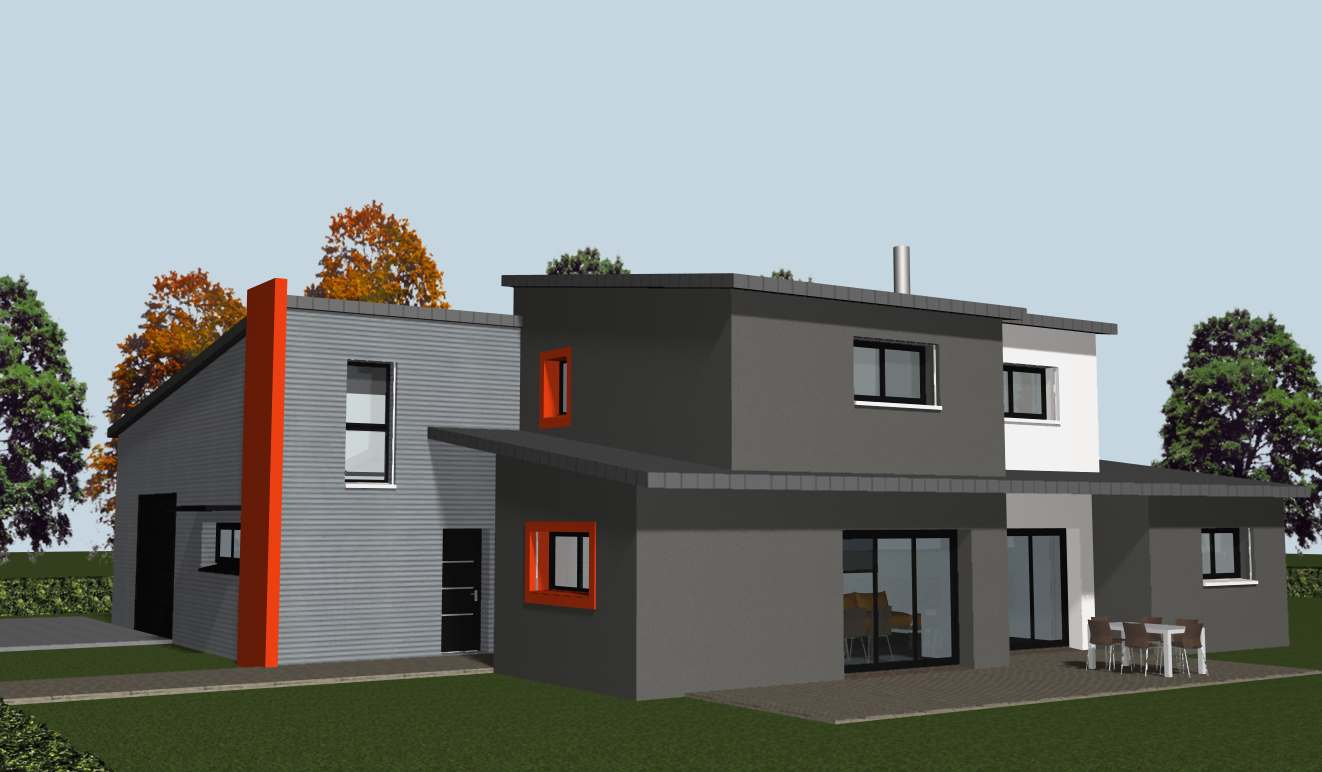 construire une maison individuelle neuve rennes cocoon habitat. Black Bedroom Furniture Sets. Home Design Ideas