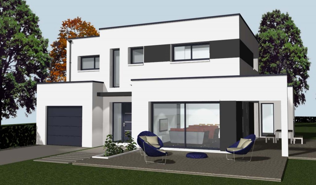 Comment construire une maison moderne rennes cocoon for Construire une maison moderne