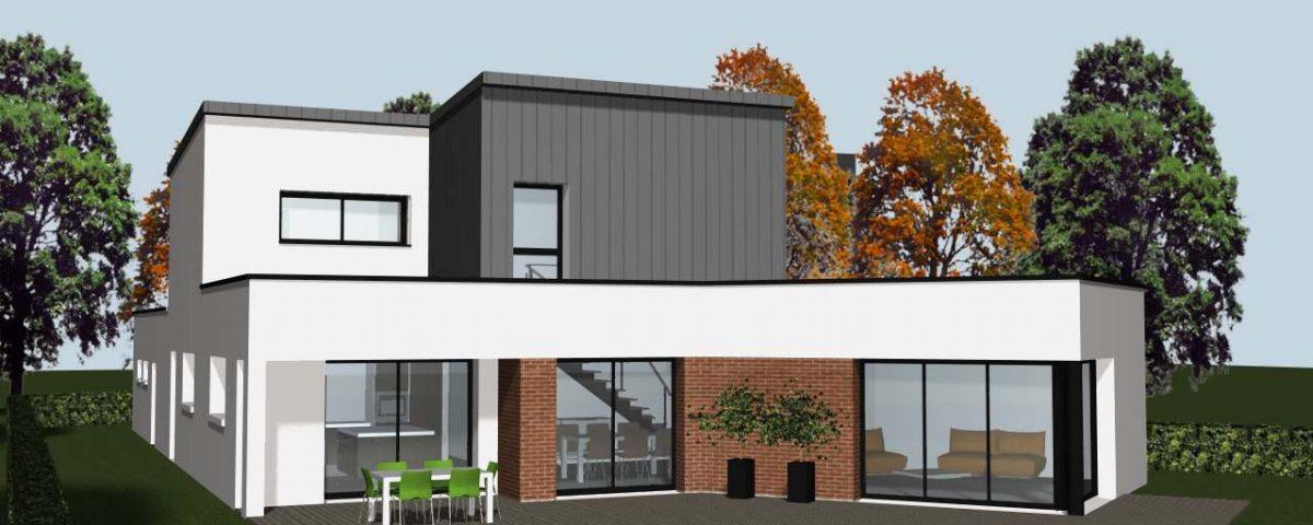 baie vitr e d 39 une maison contemporaine cocoon habitat. Black Bedroom Furniture Sets. Home Design Ideas