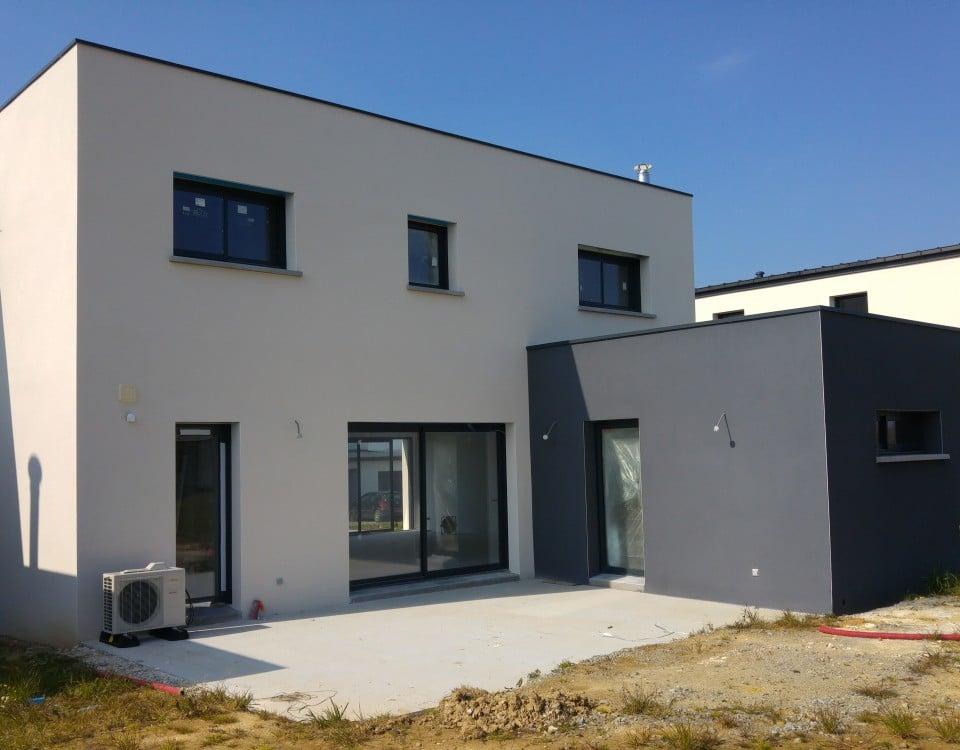 maison en beton cellulaire great construire un mur en. Black Bedroom Furniture Sets. Home Design Ideas