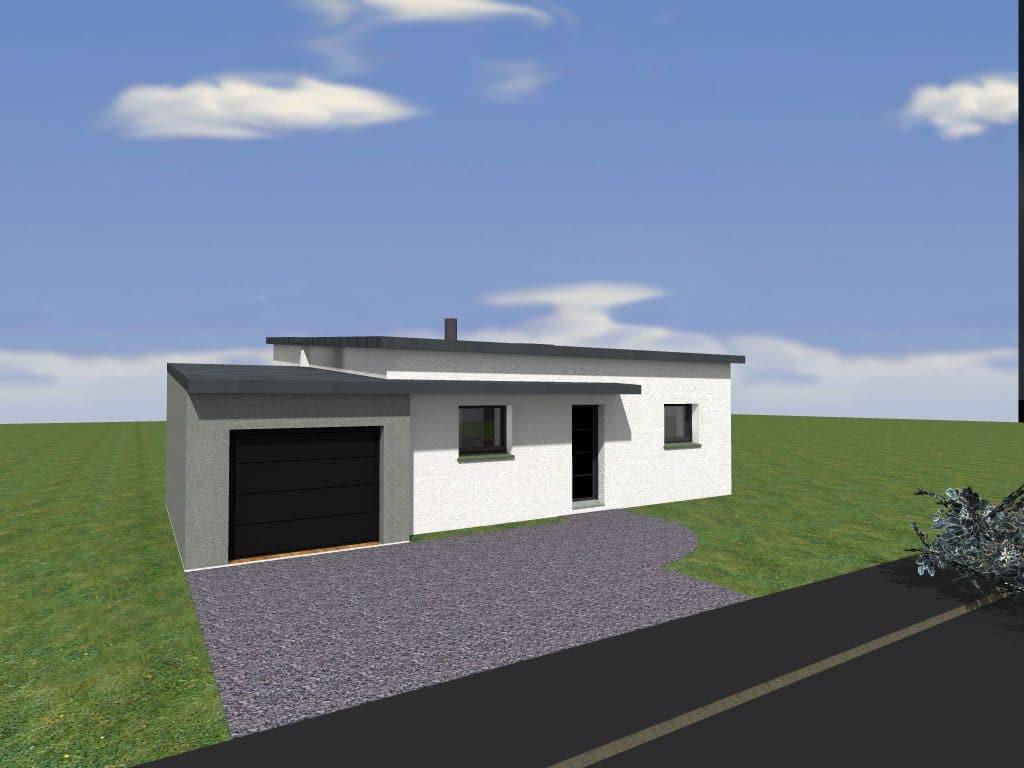 Plan d 39 une maison plain pied rennes cocoon habitat - Plan d une maison plain pied ...