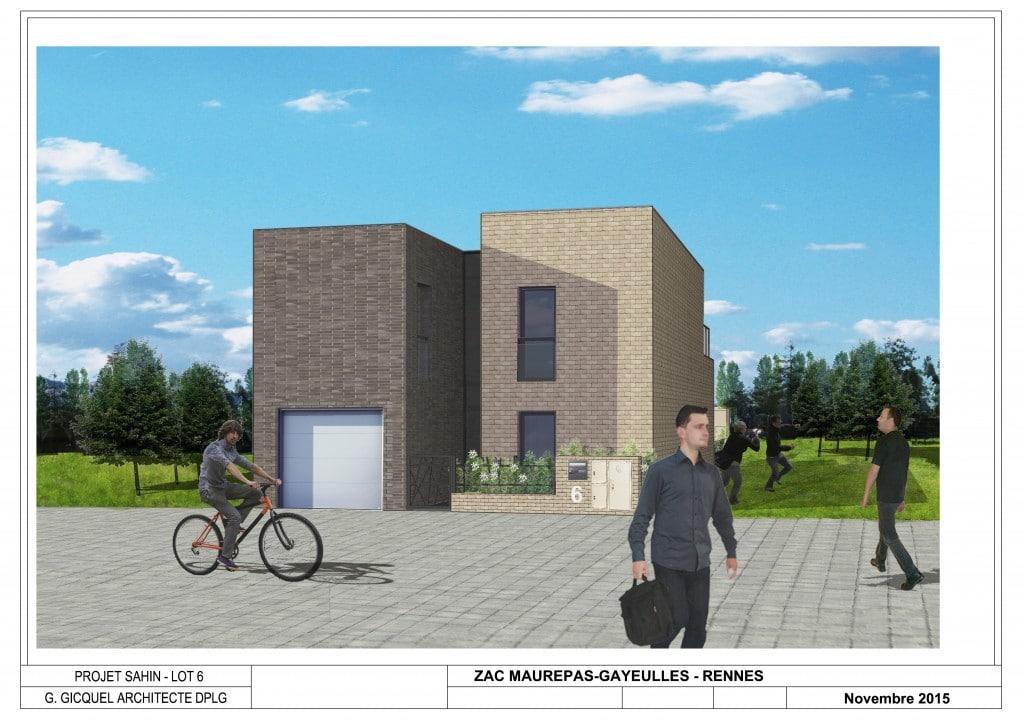 Construction d 39 une maison en brique de structure cocoon for Contruire maison